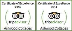TripAdvisor - Certificate of Excellence 2014-2015 Winner
